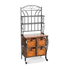 Longaberger Bakers Rack Amazon Com Southern Enterprises Wrought Iron Bakers Rack With