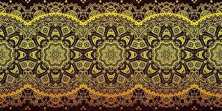 oriental design decorative golden laced ornament mehendi style oriental design