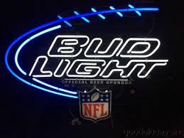 bud light light up sign l k bud light beer nfl football dry erase drink specials led light