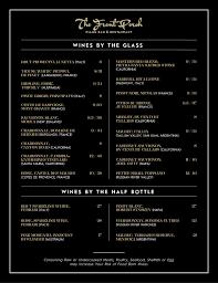 elegant playful menu design for wescott enterprises llc by