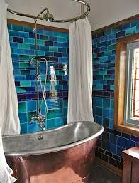 Rustic Bathroom Tile - 20 rustic bathroom designs with copper bathtub