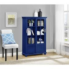 amazon com ameriwood home aaron lane bookcase with sliding glass