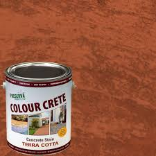 colour crete 1 gal terra cotta semi transparent water based
