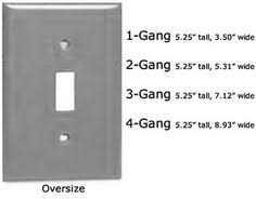 light switch cover dimensions light switch plate dimensions standard size for 1 6 electrical