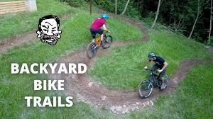 backyard mtb trails building u0026 riding youtube