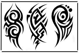 tribal leo tattoo design on leg