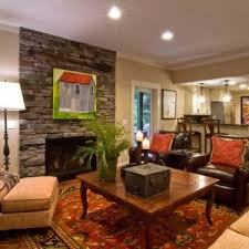 basement living room designs with leather arm chairs and couch and