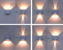 outdoor double wall light new wall lighting intended for modern outdoor amazon com