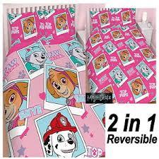paw patrol u0027stars u0027 pink double duvet quilt cover girls