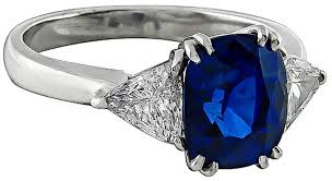 sapphire and engagement rings 4 carat sapphire platinum engagement ring for sale