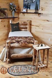 best 25 log bed frame ideas on pinterest log bed woodworking
