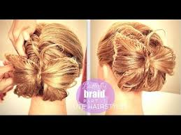 butterfly hair butterfly braid bun tutorial pt1 hairstyles for medium