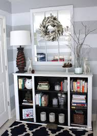 decorating a bookshelf two toned bookcase from a dining room hutch the homes i have made