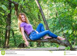 Beautiful Appearance Young Beautiful Model Of European Appearance With Long Hair