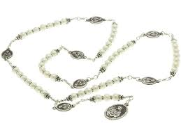 rosary of the seven sorrows sterling silver 7 sorrows rosary necklace pearls with 7 sorrows