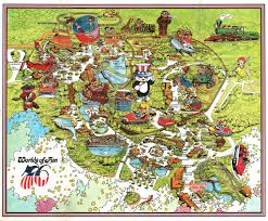 vintage worlds of fun souvenir park map poster kansas u2026 flickr