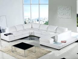 White Leather Sofa Modern Spectacular Modern Leather Sofa With Chaise For House Design