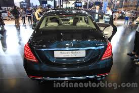 mercedes maybach s500 mercedes maybach s500 rear at the 2015 chengdu motor show indian