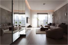 modern apartment decorating brown wooden floor glass barriersgrey