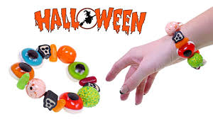 Candy Crafts For Halloween by Making A Spooky Gummy Candy Halloween Bracelet How To Make Diy
