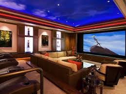 decorations amazing modern media room decor ideas blue painted