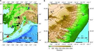 A Map Of Alaska by Volcanic Tremor And Plume Height Hysteresis From Pavlof Volcano