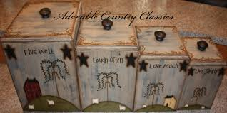 adorable country classics primitive kitchen canisters ceramic