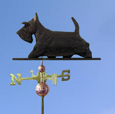 scottish terrier carved painted basswood weathervane