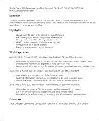Office Assistant Resume Template Professional Law Office Assistant Templates To Showcase Your