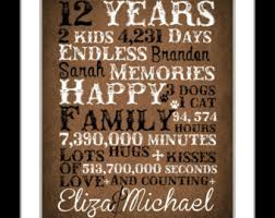 12th anniversary gift ideas paper wedding anniversary gift for for him year ane