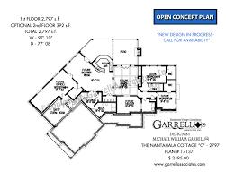 floor plan cottage nantahala cottage d 2797 house plans by garrell associates inc