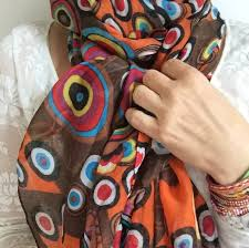 burnt orange scarf thanksgiving fall scarf fall colors
