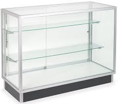 Merchandise Display Case Glass Laminate Door Cabinets Four Foot Wide Display Cases