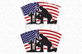 Usa Flag Cape Fallen Soldier Veterans Day Svg Dxf Png Eps Files American Flag