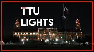texas tech neon light day four texas tech university lights drive thru memorial circle