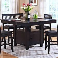 espresso rectangular dining table new classic home furnishings dining tables kaylee 45 102 10 counter