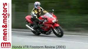 honda vtr firestorm review 2001 youtube