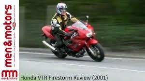 Honda Vtr Firestorm Review 2001 Youtube