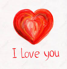 you it you buy it s day heart beautiful heart on white paper with i you