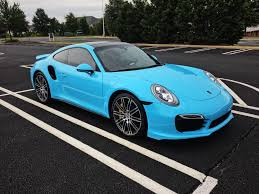 miami blue porsche turbo s the deed is done my turbo s wrapped in gloss sky blue porsche