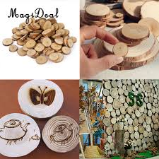 wood centerpieces magideal 1 bag 3 9cm pine wood slices for diy crafts wedding