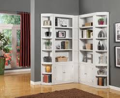 corner bookcase with doors furniture home lowes bookshelves inside awesome appealing corner