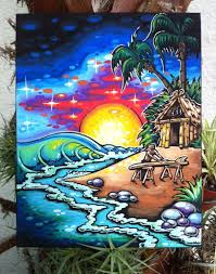 Surf Mural by 50 Paintings Day 13 Of 50 Marooned Drew Brophy Surf
