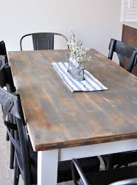 Farmhouse Dining Room Sets Distressed Farmhouse Dining Room Table Makeover Cherished Bliss