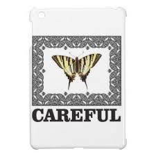 careful yellow butterfly mini cases