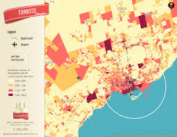 Map Of Toronto Canada by Where Do Young Adults Live In Toronto