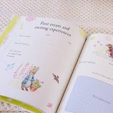 baby record book rabbit baby record book