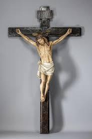 large wall crucifix large antique church wooden crucifix 42