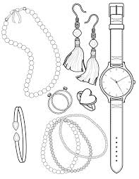 jewelry coloring pages to download and print for free