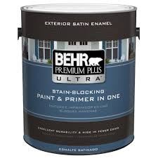 Home Depot Paint Colors Interior Behr Premium Plus Ultra 1 Gal Ultra Pure White Satin Enamel